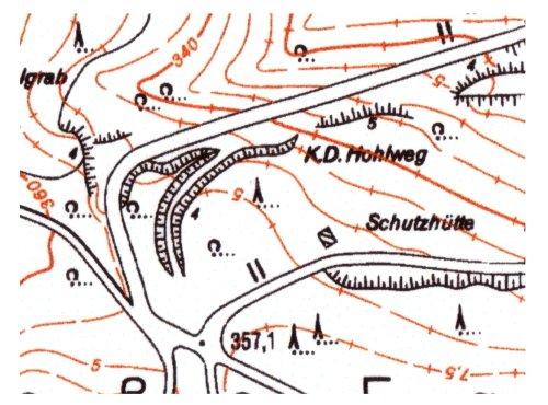 """Karte 1:5000 von der """"Großen Egge"""""""