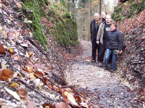 Freigelegtes Teilstück im Mittelteil, November2008