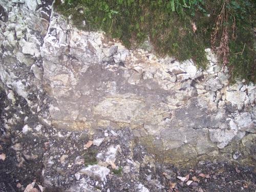 Glatte Fläche im unteren Bereich
