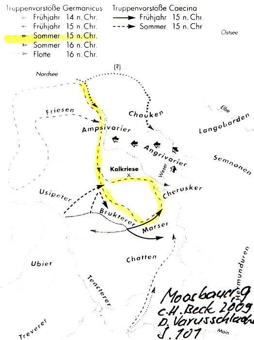Moosbauer: Die Varusschlacht, Seite 101